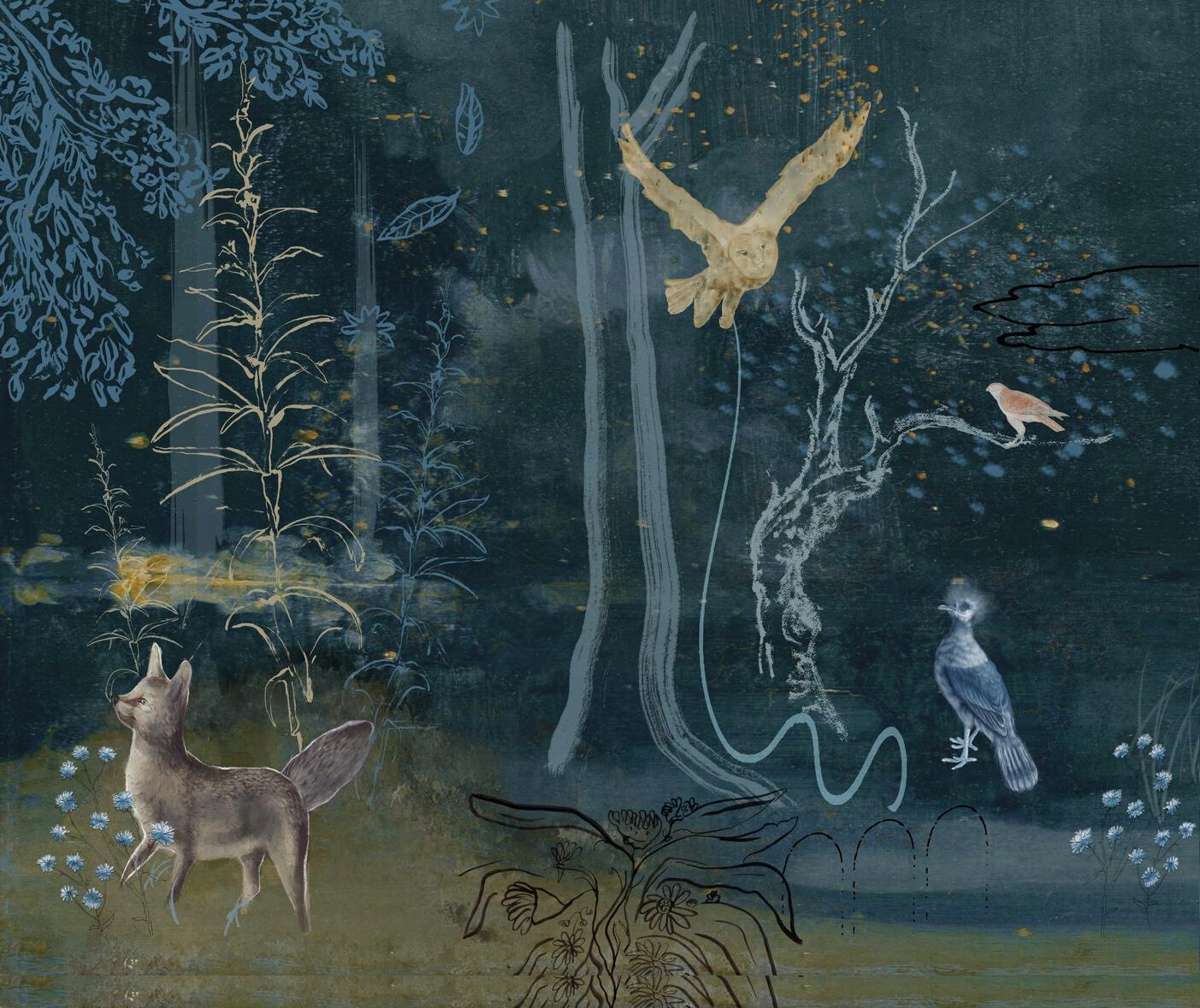 En Viu Mural Blue Crop