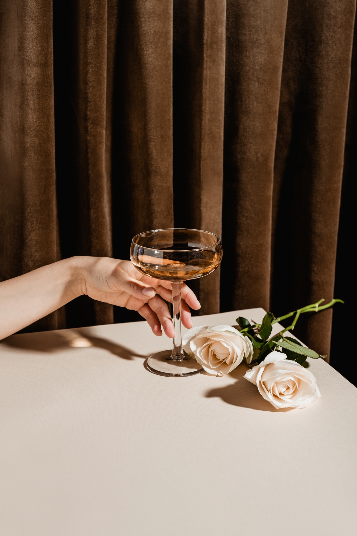 rose hand cocktail